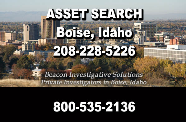 Boise Idaho Asset Search
