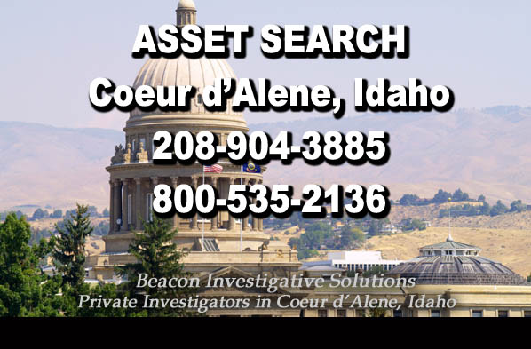 CoeurdAlene Idaho Asset Search