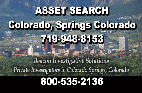 Colorado Springs Colorado Asset Search