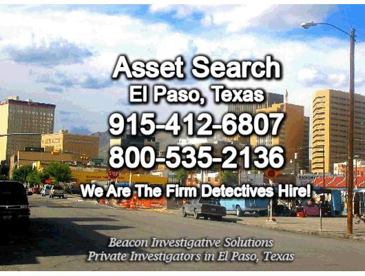 El Paso Texas Asset Search