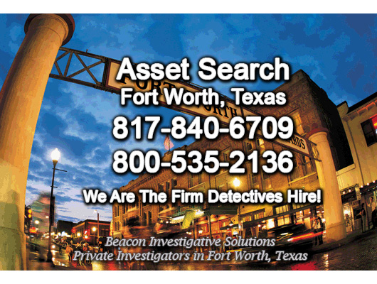 Fort Worth Texas Asset Search