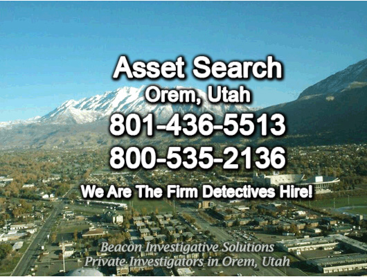 Orem Utah Asset Search