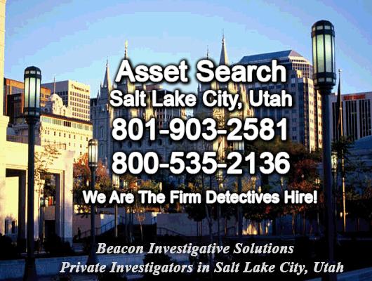 Salt Lake City Utah Asset Search