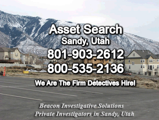 Sandy Utah Asset Search