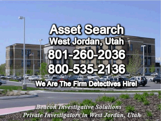 West Jordan Utah Asset Search
