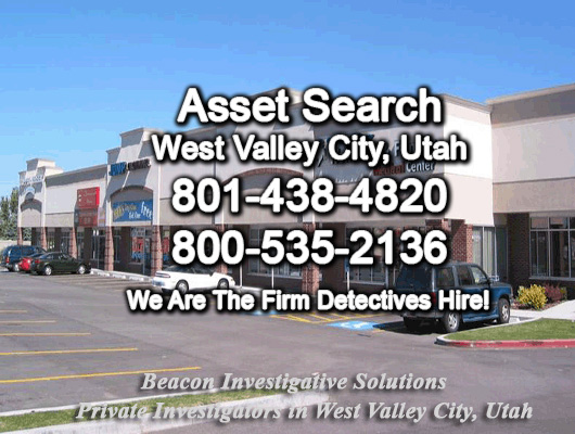 West Valley City Utah Asset Search